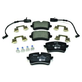 Kit de plaquettes de frein, frein à disque HELLA Art.No - 8DB 355 015-201 OEM: 4G0698451H pour VOLKSWAGEN, AUDI, SEAT, SKODA récuperer