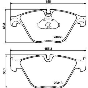 Bremsbelagsatz, Scheibenbremse HELLA Art.No - 8DB 355 015-261 OEM: 34116850886 für BMW, LANCIA kaufen