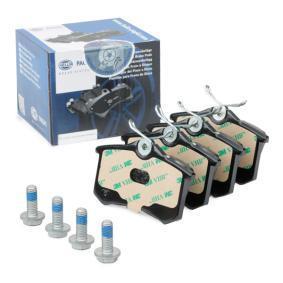 Bremsbelagsatz, Scheibenbremse HELLA Art.No - 8DB 355 018-111 OEM: JZW698451 für VW, AUDI, FORD, SKODA, SEAT kaufen