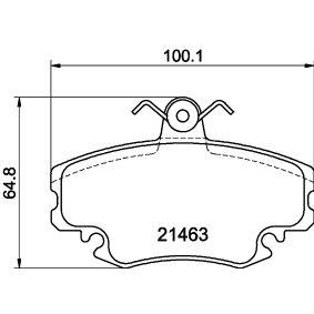 Bremsbelagsatz, Scheibenbremse HELLA Art.No - 8DB 355 018-131 OEM: 7701210131 für RENAULT, PEUGEOT, DACIA, LADA, RENAULT TRUCKS kaufen