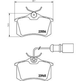 Bremsbelagsatz, Scheibenbremse HELLA Art.No - 8DB 355 018-601 OEM: 1343513 für VW, FORD, SEAT, RENAULT TRUCKS, SATURN kaufen