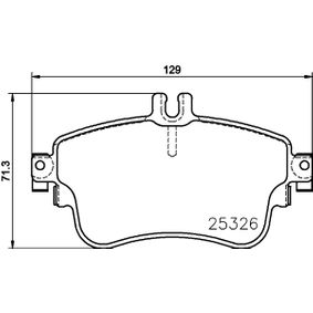 Bremsbelagsatz, Scheibenbremse HELLA Art.No - 8DB 355 019-751 OEM: A0084200420 für MERCEDES-BENZ kaufen
