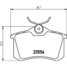 Bremsbelagsatz, Scheibenbremse HELLA Art.No - 8DB 355 019-911 kaufen