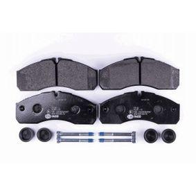 HELLA Bremsbelagsatz, Scheibenbremse 410609X129 für NISSAN, MITSUBISHI, SUBARU, INFINITI bestellen