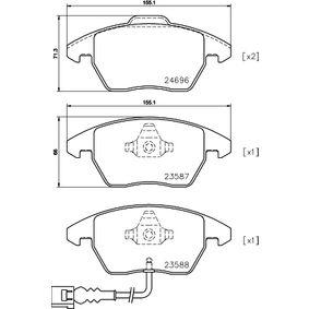 Kit de plaquettes de frein, frein à disque HELLA Art.No - 8DB 355 023-161 OEM: 3C0698151J pour VOLKSWAGEN, AUDI, SEAT, SKODA récuperer