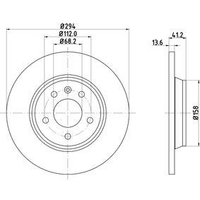 HELLA 8DD 355 106-661 Bremsscheibe OEM - 7D0615601C AUDI, FORD, PORSCHE, SEAT, SKODA, VW, VAG, VW/SEAT, SWAG, AKEBONO, METELLI, OPTIMAL, MEYLE, A.B.S., BRINK, OEMparts, MAXTECH günstig