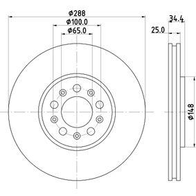 HELLA 8DD 355 107-611 Bremsscheibe OEM - 6R0615301D AUDI, SEAT, SKODA, VW, VAG, VW (FAW), VW (SVW) günstig
