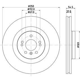 HELLA 8DD 355 113-191 Спирачен диск OEM - 1644210512 MERCEDES-BENZ, A.B.S., OEMparts евтино