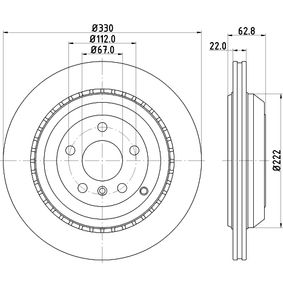 Спирачен диск HELLA Art.No - 8DD 355 113-231 OEM: A1644231312 за MERCEDES-BENZ, DAIMLER купете