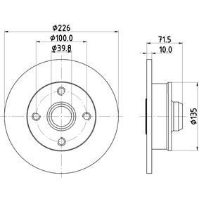 Bremsscheibe HELLA Art.No - 8DD 355 113-461 OEM: 191501639A für VW, AUDI, SKODA, SEAT kaufen