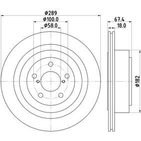 HELLA 8DD 355 115-121 Bremsscheibe OEM - 26700AE080 SUBARU, TRW, A.B.S. günstig