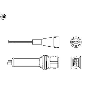 NGK Lambda-Sonde 1859 für AUDI 80 2.0 E 16V 140 PS kaufen