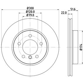 Bremsscheibe HELLA Art.No - 8DD 355 127-391 OEM: 34116855152 für BMW kaufen