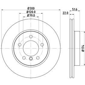 HELLA 8DD 355 127-391 Bremsscheibe OEM - 34116855152 BMW, BILSTEIN, BMW (BRILLIANCE) günstig