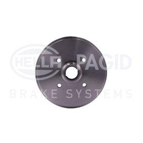 Bremstrommel HELLA Art.No - 8DT 355 301-631 OEM: 171501615 für VW, AUDI, SKODA, SEAT, PORSCHE kaufen