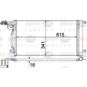 Kondensator, Klimaanlage HELLA Art.No - 8FC 351 309-134 OEM: 6R0820411P für VW, AUDI, SKODA, SEAT, VOLVO kaufen