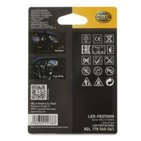 8GL 178 560-561 Крушка с нагреваема жичка, светлини купе от HELLA качествени части