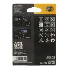 8GL 178 560-601 Glühlampe, Innenraumleuchte von HELLA Qualitäts Ersatzteile