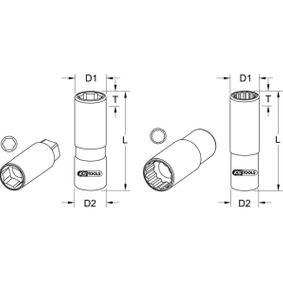 KS TOOLS Ключ запалителни свещи (911.1205) купете онлайн