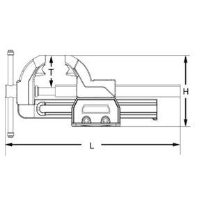 914.0026 Tornillo de banco de KS TOOLS herramientas de calidad