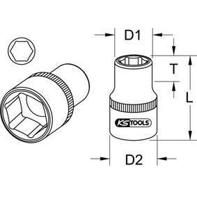 917.1211 Piezas insertables de llave de cubo de KS TOOLS herramientas de calidad