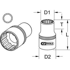 KS TOOLS Piezas insertables de llave de cubo 917.1477 tienda online