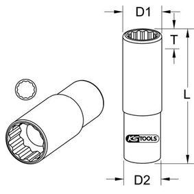 KS TOOLS Piezas insertables de llave de cubo 917.1569 tienda online