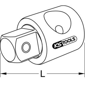 918.1261 Vergrößerungsadapter, Knarre von KS TOOLS Qualitäts Werkzeuge