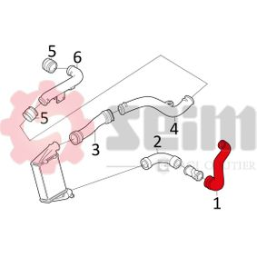 SEIM 981053 Ladeluftschlauch OEM - 8D0145828G AUDI, SEAT, SKODA, VW, VAG günstig