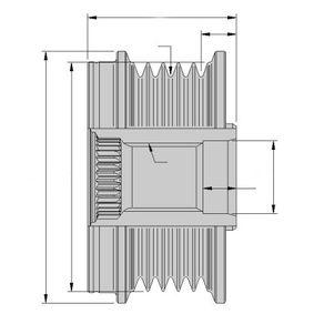 CLIO II (BB0/1/2_, CB0/1/2_) HELLA Freilauf Generator 9XU 358 038-601