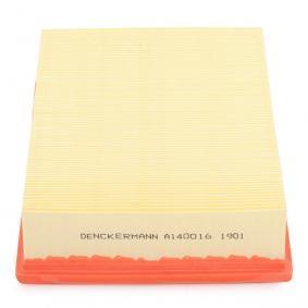 DENCKERMANN A140016 Luftfilter OEM - 1L0129620 AUDI, SEAT, SKODA, VW, VAG, FIAT / LANCIA, METELLI, DIEDERICHS, MFILTER, VIKA, CUPRA günstig