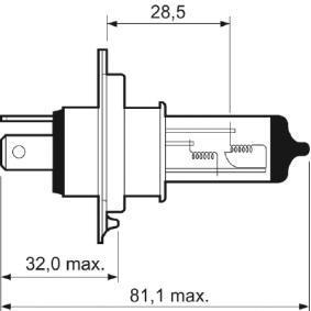 VALEO Крушка с нагреваема жичка, фар за дълги светлини (032007) на ниска цена