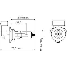 Крушка с нагреваема жичка, фар за дълги светлини 032015 онлайн магазин