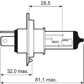 Крушка на фар за дълги светлини 032509 VALEO