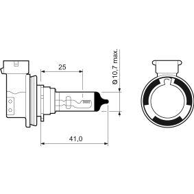 PEUGEOT 307 1.4 16V 88 CV año de fabricación 11.2003 - Lámpara para faros de luz antiniebla (032525) VALEO Tienda online
