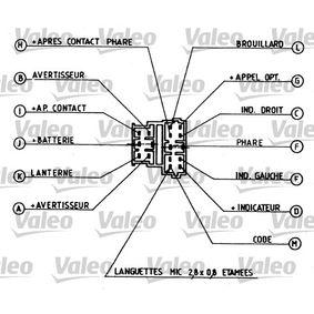 CITROËN XANTIA 1.9 D 69 CV año de fabricación 06.1994 - Interruptor/regulador (251259) VALEO Tienda online