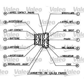 CITROËN XANTIA 2.0 i 16V 150 CV año de fabricación 06.1994 - Interruptor/regulador (251260) VALEO Tienda online