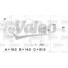 VALEO Generator 436388 für AUDI 80 2.8 quattro 174 PS kaufen
