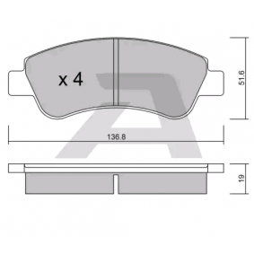 Brake Pad Set, disc brake AISIN Art.No - BPPE-1005 OEM: 425341 for PEUGEOT, CITROЁN, OPEL, DS, PIAGGIO buy