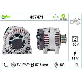 Generator VALEO Art.No - 437471 OEM: 96463218 für PEUGEOT, CITROЁN, SUZUKI, TVR kaufen