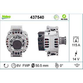 VALEO Alternator 437540 for MERCEDES-BENZ VITO 110 CDI 2.2 (638.094) 102 PS buy