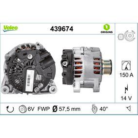 Generator VALEO Art.No - 439674 OEM: 9646321780 für FIAT, PEUGEOT, CITROЁN, SUZUKI, ALFA ROMEO kaufen