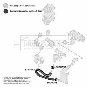 Ladeluftschlauch BORG & BECK Art.No - BTH1442 OEM: 13231618 für OPEL, VAUXHALL kaufen