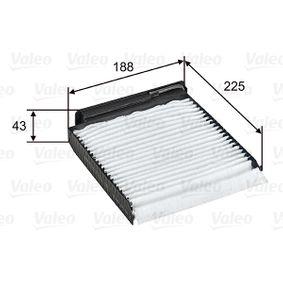 Innenraumfilter VALEO (698753) für RENAULT TWINGO Preise