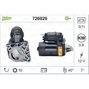 VALEO Starter motor 726020