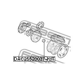 Radlager DAC25520037-KIT FEBEST