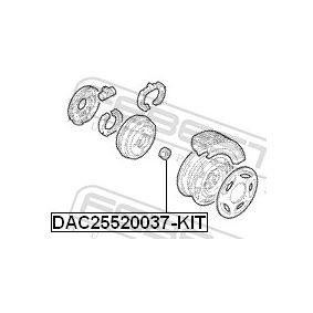 Maza de rueda DAC25520037-KIT FEBEST