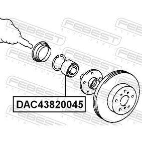 Wheel bearing kit DAC43820045 FEBEST