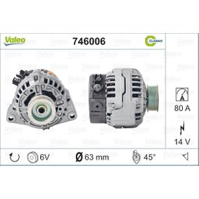 VALEO Lichtmaschine 746006