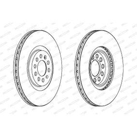 FERODO Bremsscheibe 6R0615301B für VW, AUDI, SKODA, SEAT, ALFA ROMEO bestellen